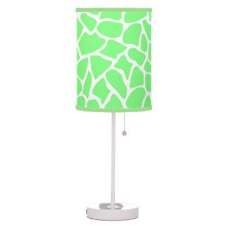 Bright Green Animal Print Giraffe Pattern Table Lamp