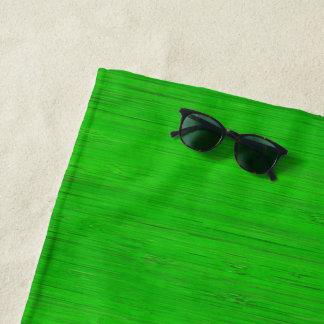 Bright Green Bamboo Wood Grain Look Beach Towel