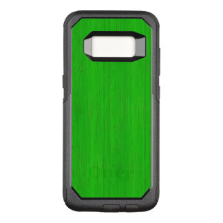 Bright Green Bamboo Wood Grain Look OtterBox Commuter Samsung Galaxy S8 Case