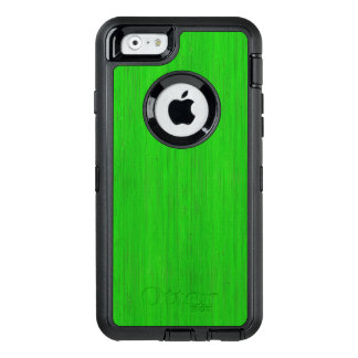 Bright Green Bamboo Wood Grain Look OtterBox iPhone 6/6s Case