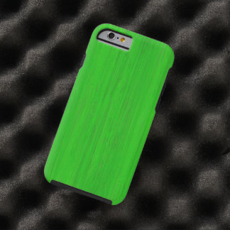 Bright Green Bamboo Wood Grain Look Tough iPhone 6 Case