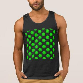 Bright Green Basketball Pattern