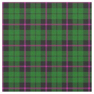Bright green black pink stripe plaid print2 fabric