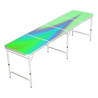 Bright Green Blue Peak Beer Pong Table