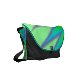 Bright Green Blue Peak Courier Bag