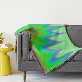 Bright Green Blue Peak Throw Blanket