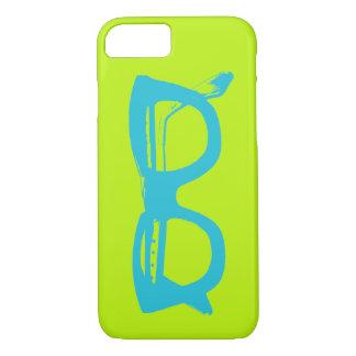 Bright Green & Blue Vintage Safety Eyeglasses iPhone 8/7 Case