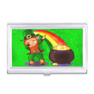 Bright green business card holder