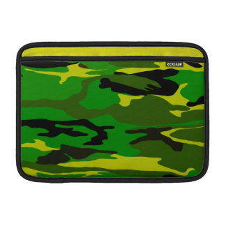 Bright Green Camo MacBook Sleeve