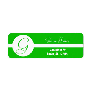 Bright Green Circle Monogram