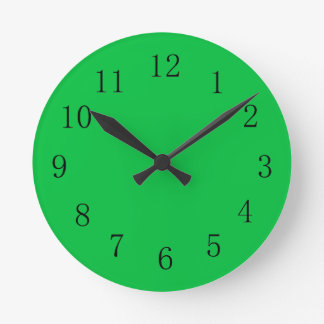 Bright Green Color Wall Clock