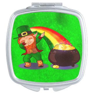 Bright green compact mirror