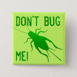 Bright Green Cricket 2 Inch Square Button