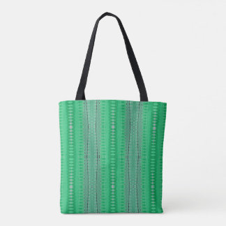 Bright Green Diamond Lines Pattern Tote Bag