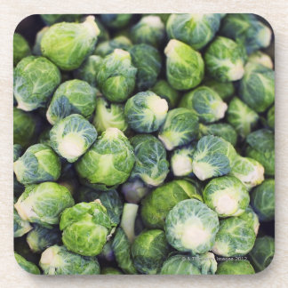 Bright Green Fresh Brussels Sprouts Coaster