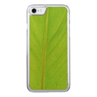 bright green fresh leaf carved iPhone 7 case
