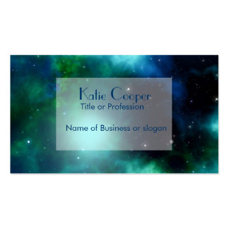 Bright Green Galaxy Business Card Templates