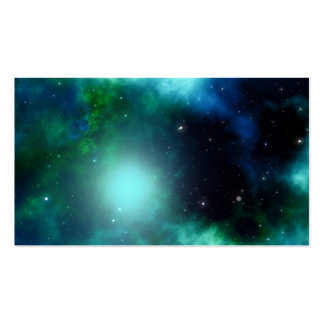Bright Green Galaxy Business Cards