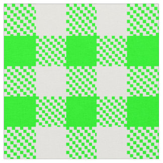 Bright Green Gingham Fabric