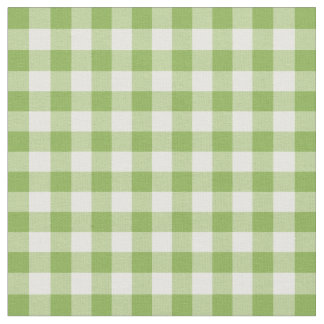 Bright Green Gingham Plaid Fabric