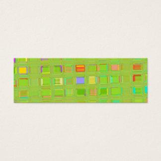 Bright Green Glass Mosaic Tiles custom Digital Art Mini Business Card