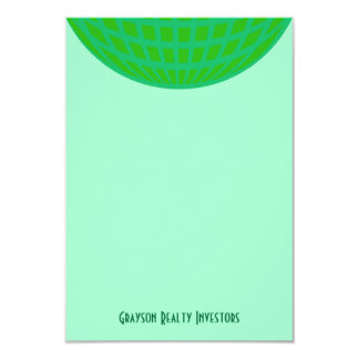 "Bright Green Global Business 3.5"" X 5"" Invitation Card"