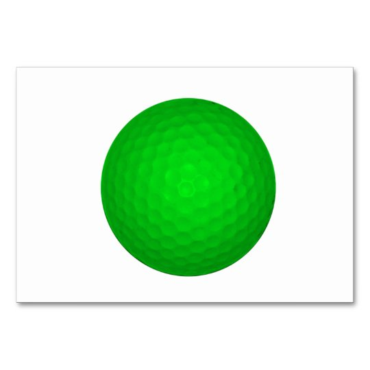 Bright Green Golf Ball Card