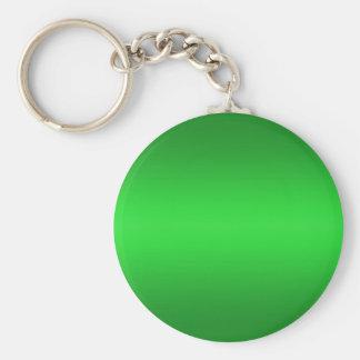Bright Green Gradient - Emerald Greens Template B Keychain
