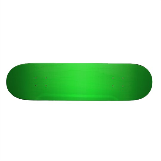 Bright Green Gradient - Emerald Greens Template B Skate Board Decks