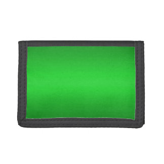 Bright Green Gradient - Emerald Greens Template Tri-fold Wallet