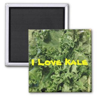 Bright Green I Love Kale Vegan Magnet
