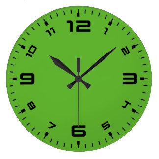 Bright Green Large Clock