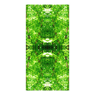 Bright Green Leafy Abstract Photo Card