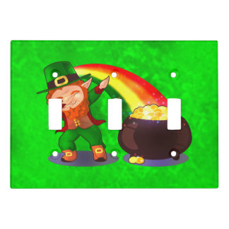 Bright green light switch cover