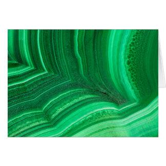 Bright green Malachite Mineral Card