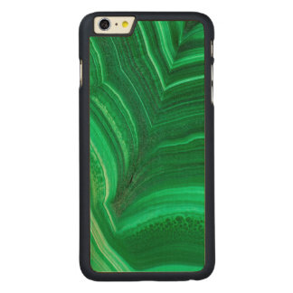 Bright green Malachite Mineral Carved Maple iPhone 6 Plus Case
