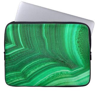Bright green Malachite Mineral Laptop Computer Sleeve
