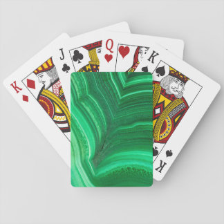 Bright green Malachite Mineral Playing Cards
