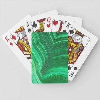 Bright green Malachite Mineral Poker Deck