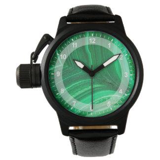 Bright green Malachite Mineral Wrist Watch
