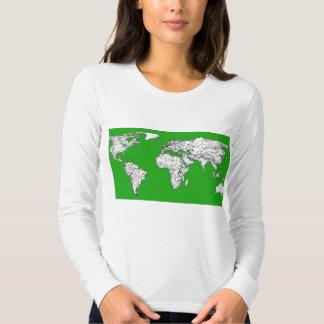 Bright green map tees