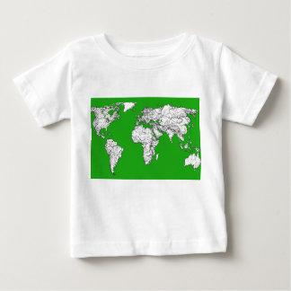 Bright green map t shirt