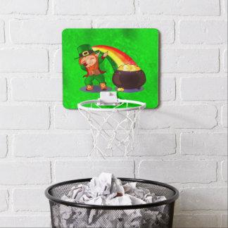 Bright green mini basketball hoop