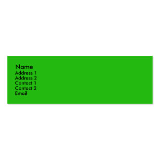 Bright green mini business card