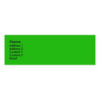 Bright green mini business card