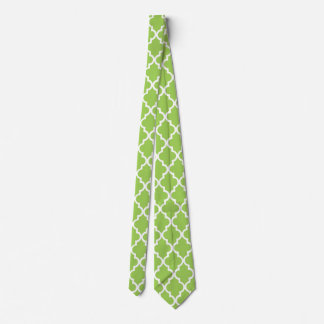 Bright green Moroccan Pattern Tie