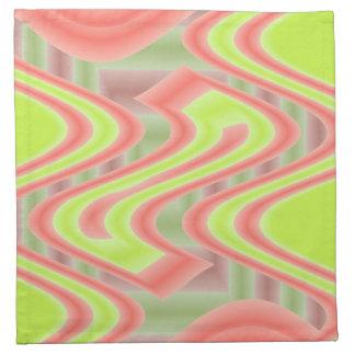 bright green orange mod abstract napkin