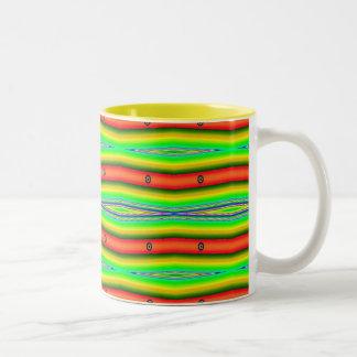 bright green orange Two-Tone mug