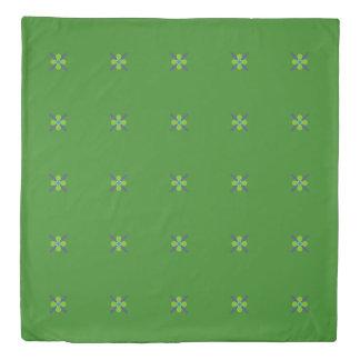 Bright Green, Purple & Blue Floral Duvet Cover
