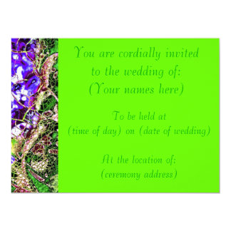 Bright Green Springtime Wedding Invite
